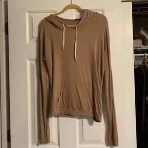 Brandy Meville thin tan color hoodie